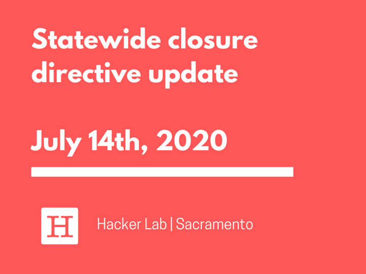 Statewide closure directive update - July 14th, 2020