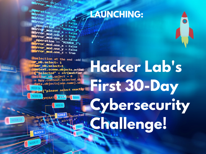 Take the challenge! Think like a hacker in 30 days
